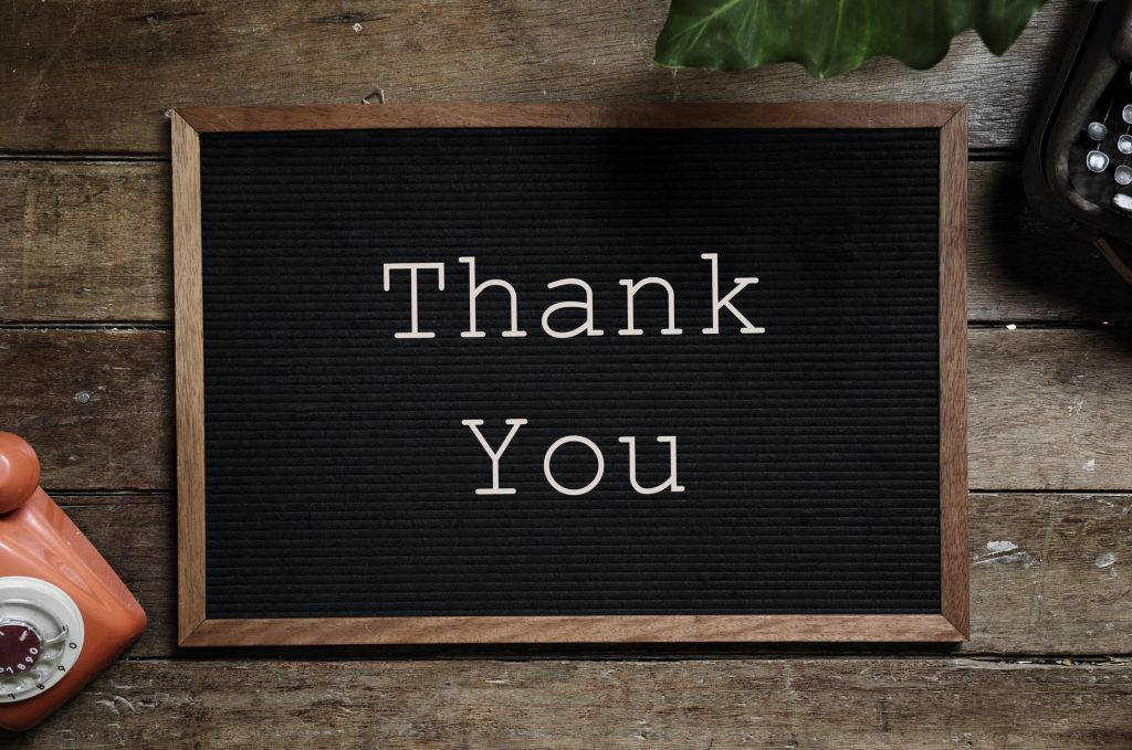 Thank You Sign Christmas E-Commerce