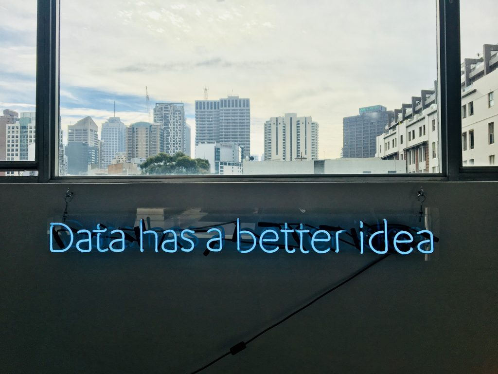 Sign about data and personalization
