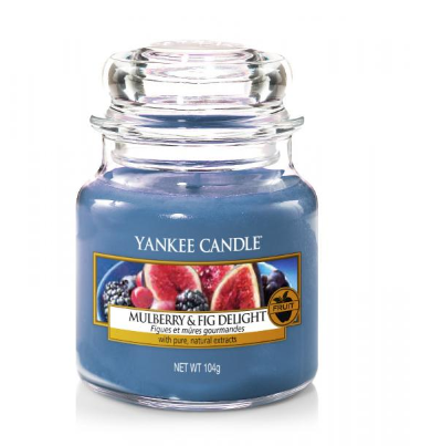 Excellent.Org: shows the Yankee candle with the smell of Mulberry & Fig Delight