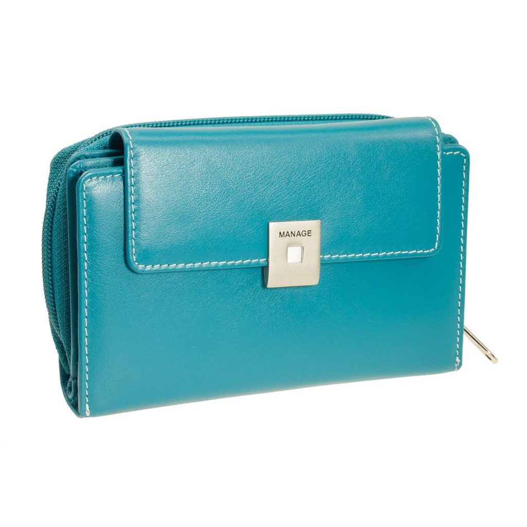 Excellent.org: a blue wallet from Geldboerse-online.de.