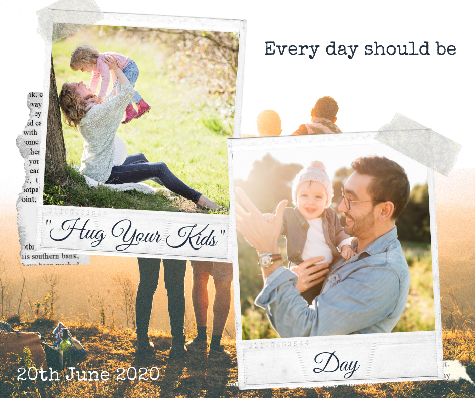 "Excellent.org focuses on the work-life balance and refers to the ""Hug your child day"", the picture shows a graphic on the occasion of this day"